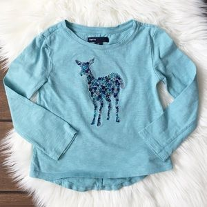 🔴FREE with Purchase. BabyGap Floral Deer Shirt.